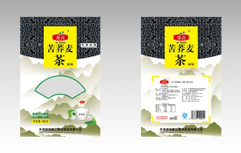 苦荞麦茶叶包装袋设计图