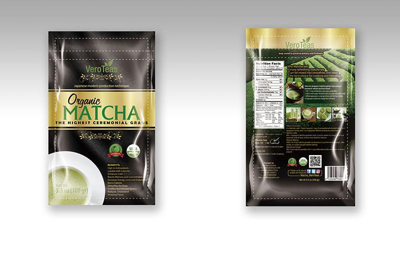 <b>抹茶茶叶包装袋设计图</b>