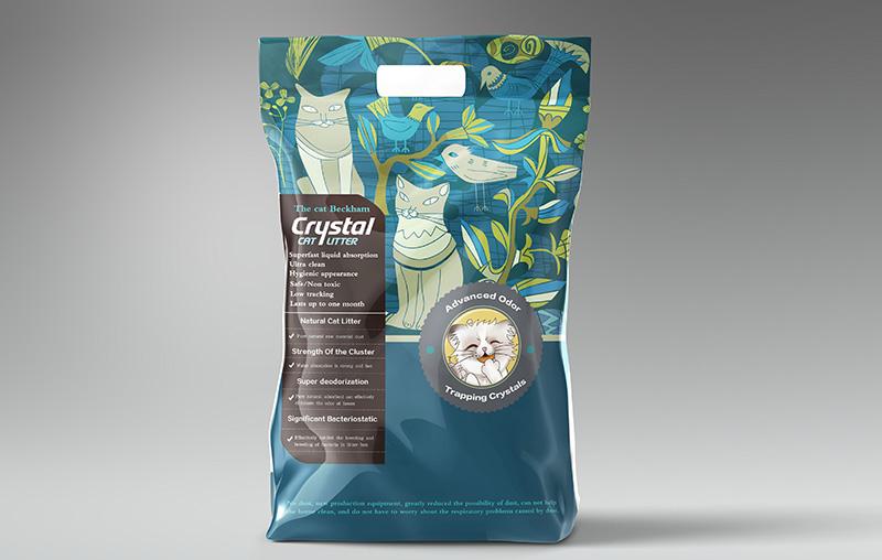 猫小贝猫砂包装袋设计图