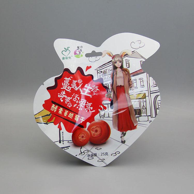 草莓汁自立异型包装袋